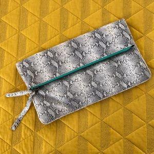 Handbags - AEO Snake Skin Clutch